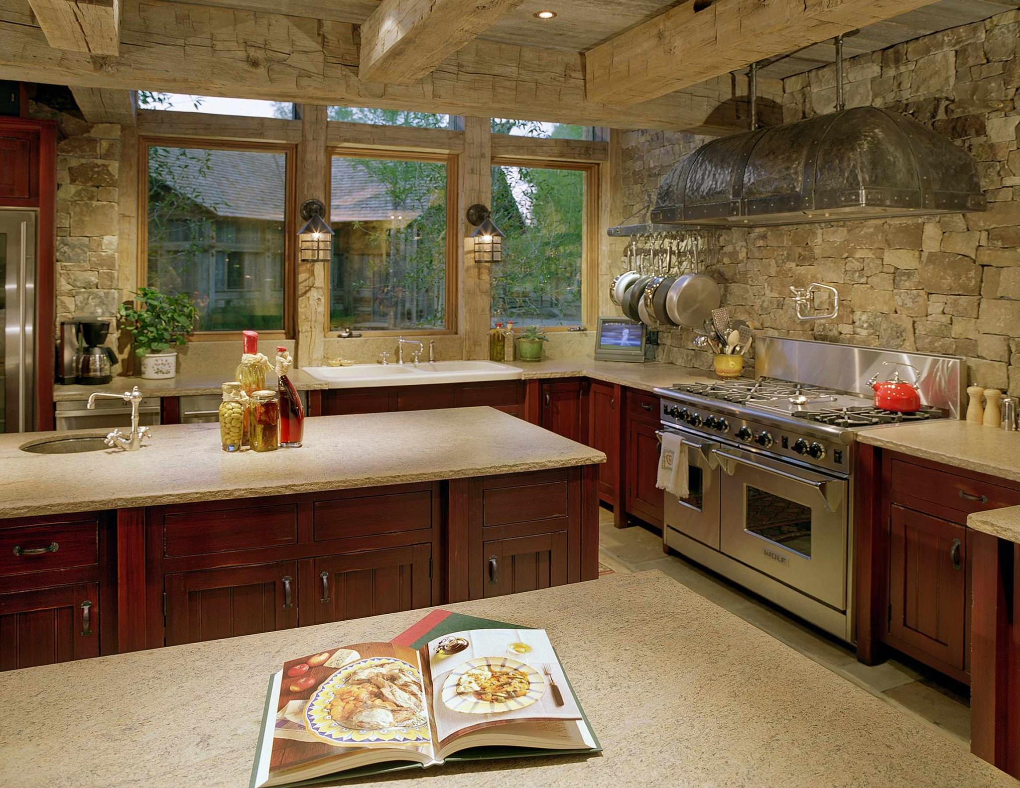 Камень в интерьере современной кухни - фото 8