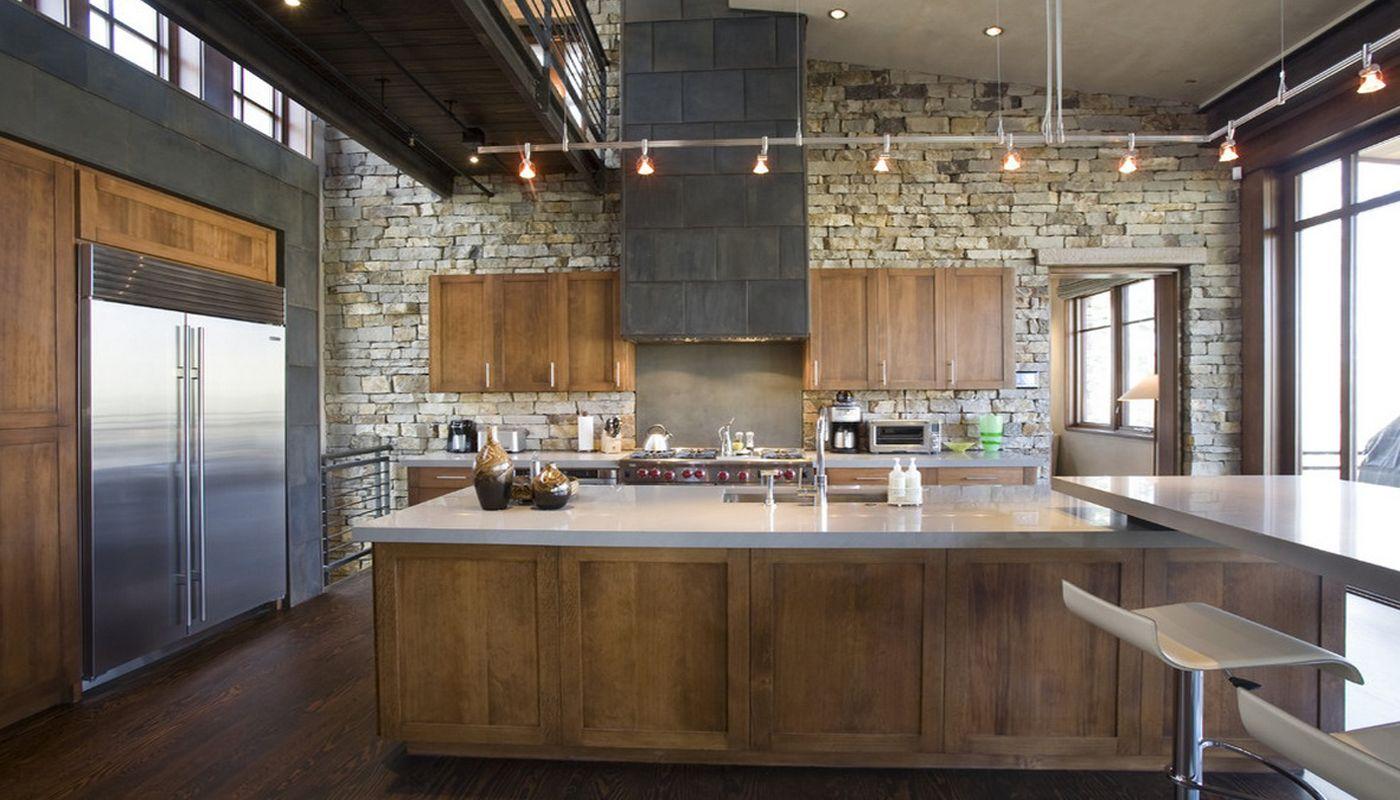 Камень в интерьере современной кухни - фото 10