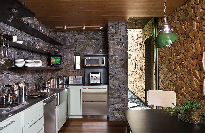 Камень в интерьере современной кухни - фото 11
