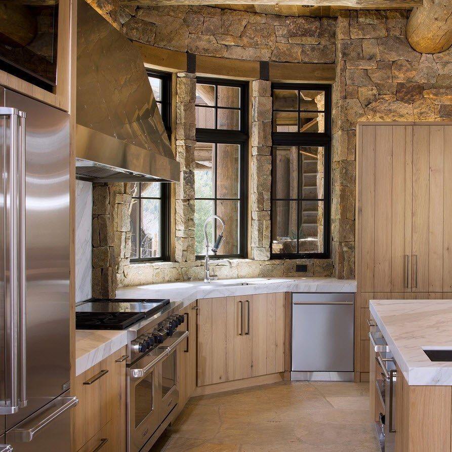 Камень в интерьере современной кухни - фото 12