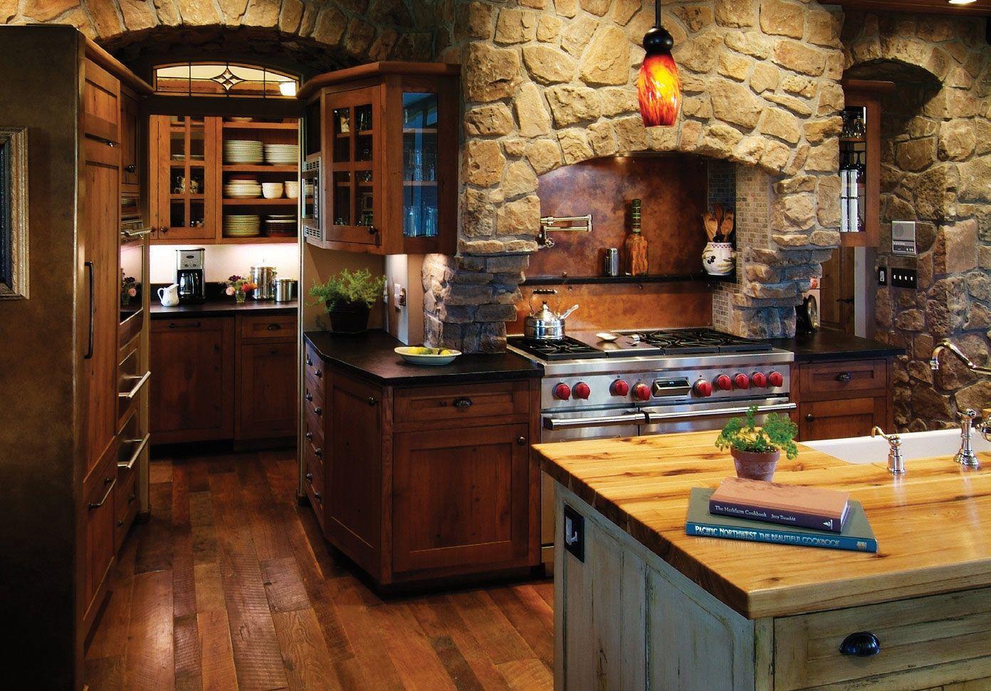 Камень в интерьере современной кухни - фото 14