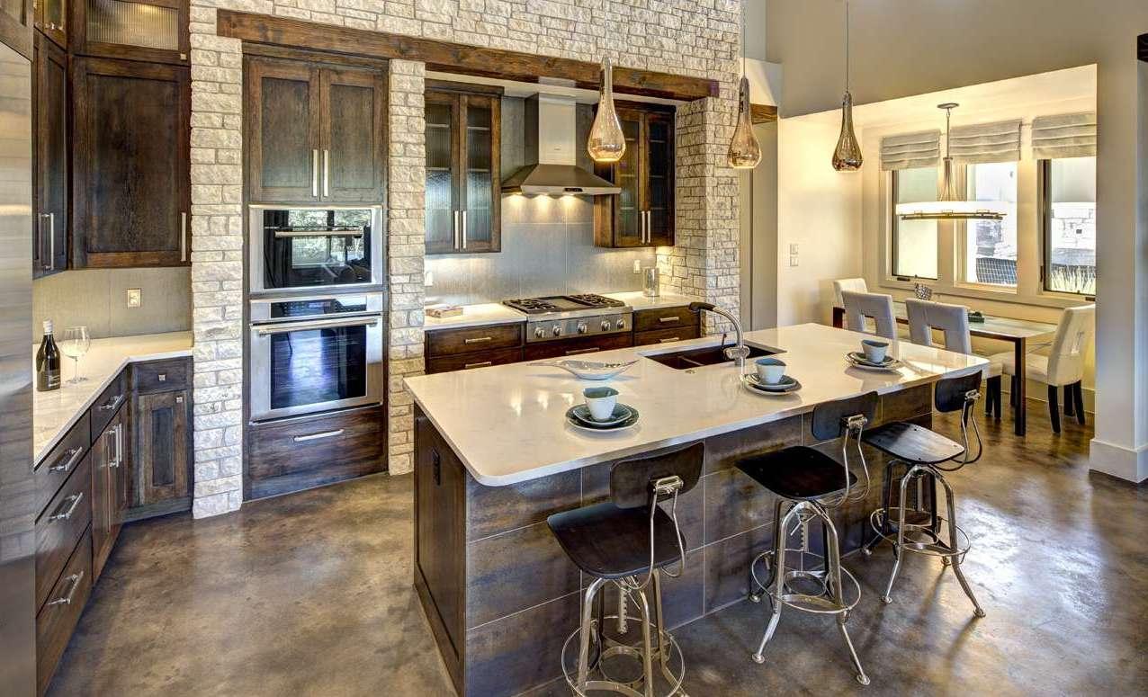 Камень в интерьере современной кухни - фото 15
