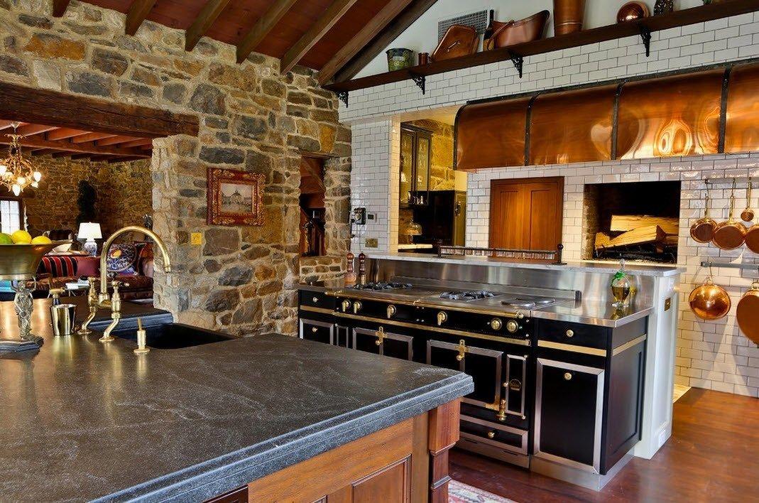Камень в интерьере современной кухни - фото 16