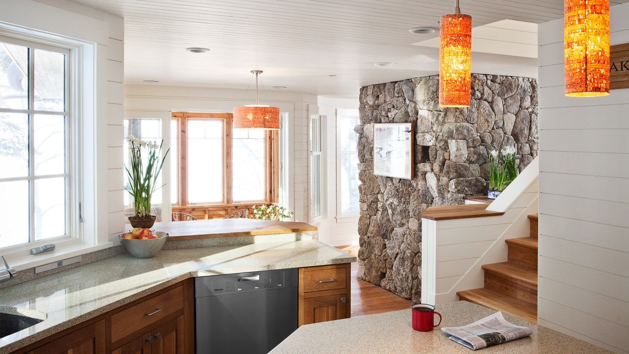 Камень в интерьере современной кухни - фото 17