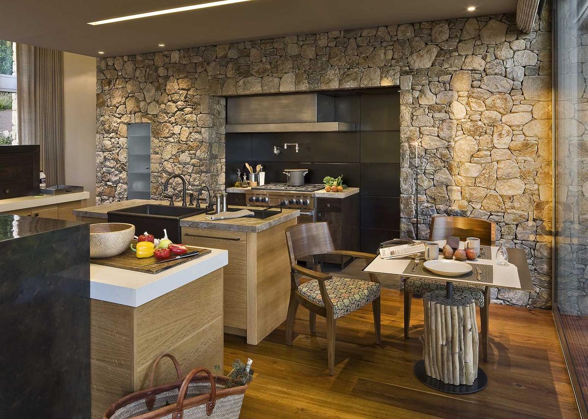 Камень в интерьере современной кухни - фото 18