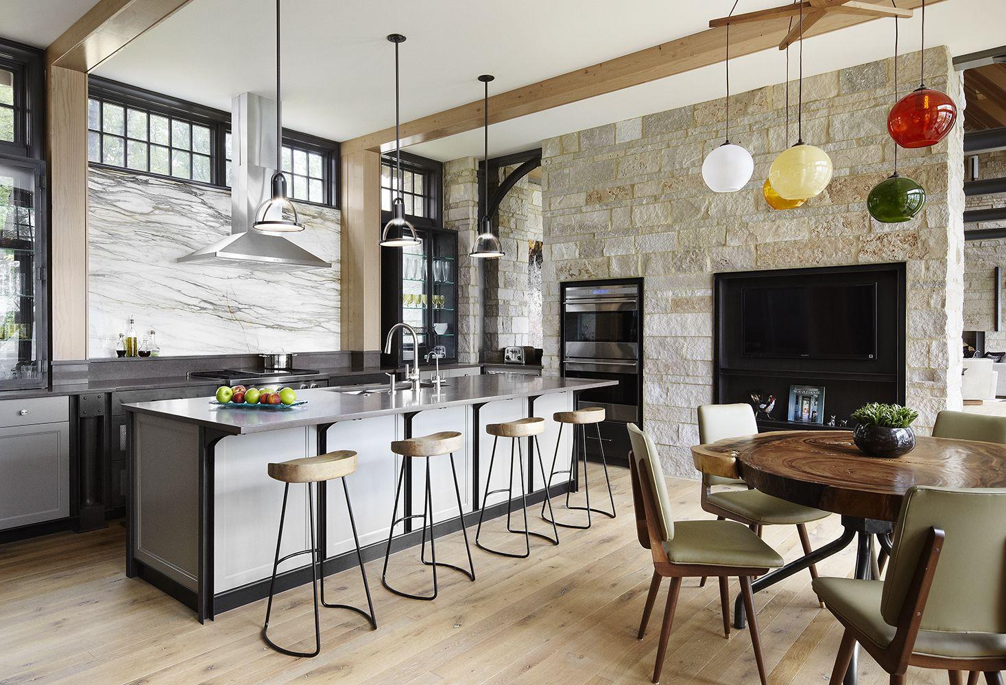 Камень в интерьере современной кухни - фото 19