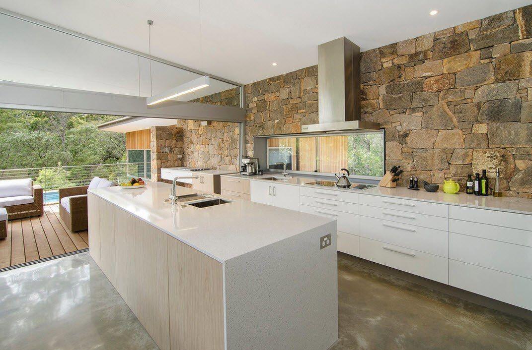Камень в интерьере современной кухни - фото 20