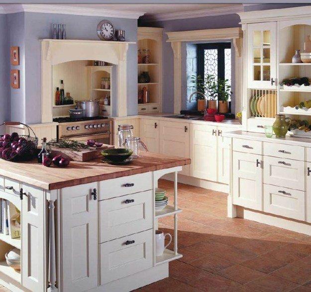 Уютный дизайн интерьера кухни в стиле кантри