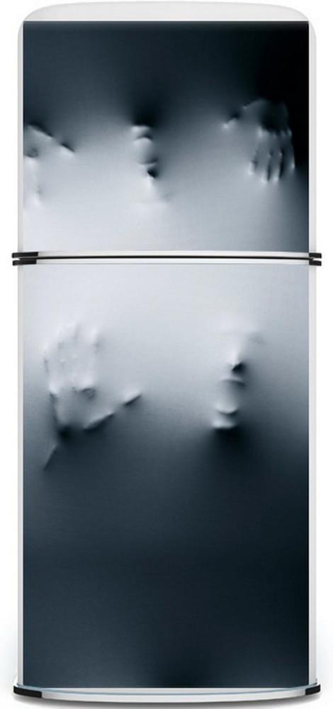 Холодильник с 3-D эффектом в интерьере кухни