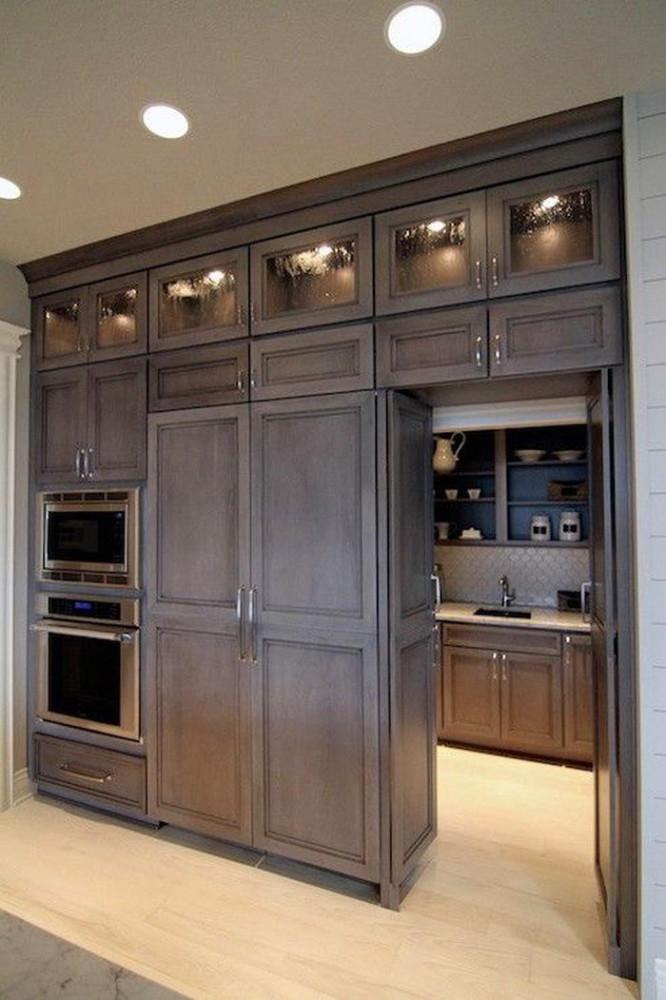 Шкаф в стиле шебби для холодильника