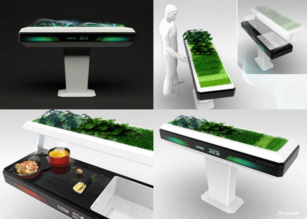 Фотоколлаж: необычный экодизайн кухни Aion от Fagor Brandt Group