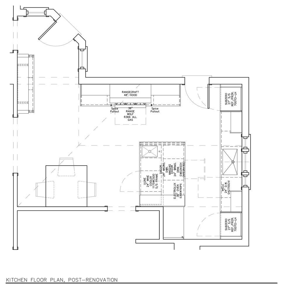 План-схема кухни после проведения реконструкции