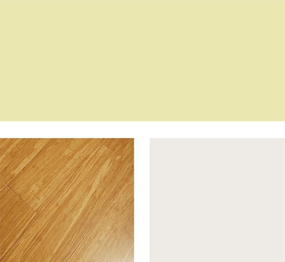 Палитра сочетания тёплых оттенков древесины и фисташкового