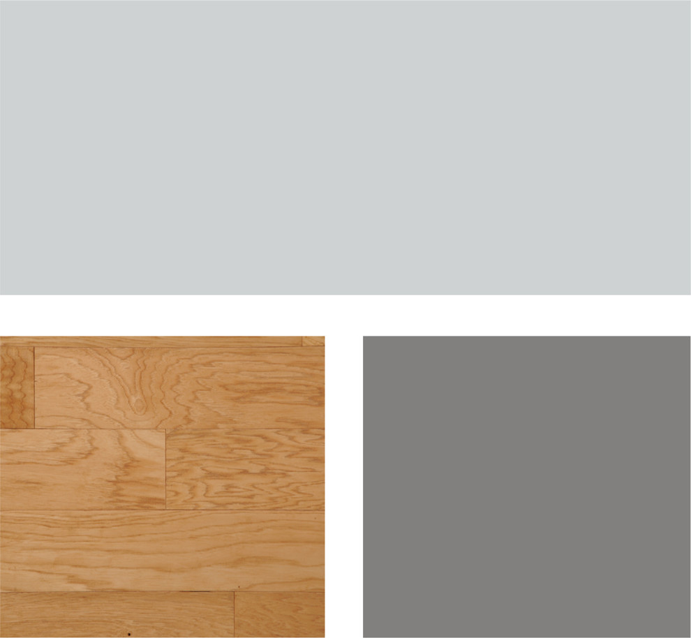 Палитра сочетания оттенков серого и тёплой древесной гаммы