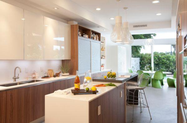 Глянцевая поверхность кухонной мебели
