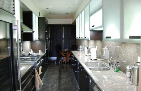 Матовые фасады кухонных шкафчиков