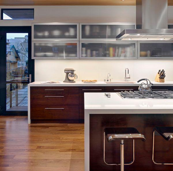 Современный интерьер кухонной зоны