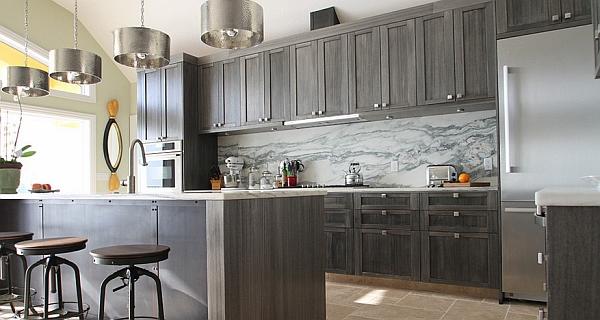 Дизайн интерьера кухни в нейтрально-серых оттенках