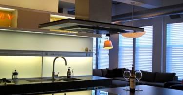 Индукционная плита в интерьере кухни