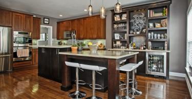 Дизайн интерьера кухни после проведения реконструкции