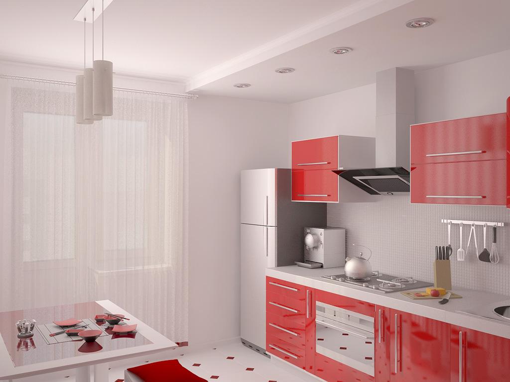 Интерьеры кухонь в зеленом цвете 139