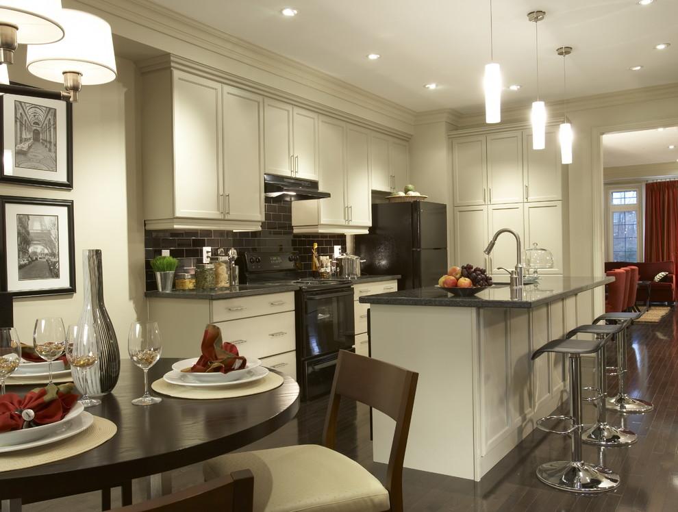 Черная техника в интерьере кухни: решение от David Nosella Interior Design