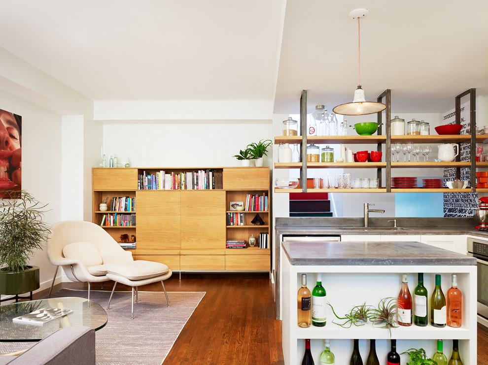 Креативное оформление кухни-столовой от студии General Assembly
