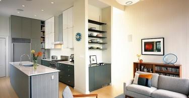 Классический дизайн интерьера кухни с элементами эклектики от John Lum Architecture