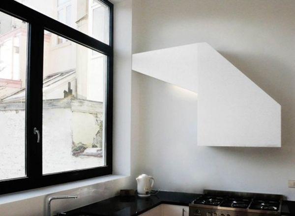 Креативная кухонная вытяжка геометрической формы