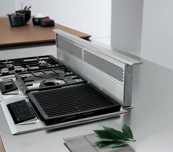 Современная плита на кухне