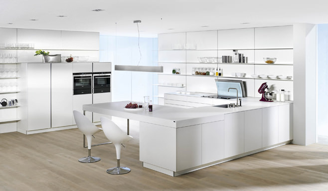 Потрясающий дизайн интерьера кухни в стиле high-tech