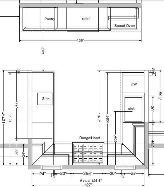Схема-планировка кухни