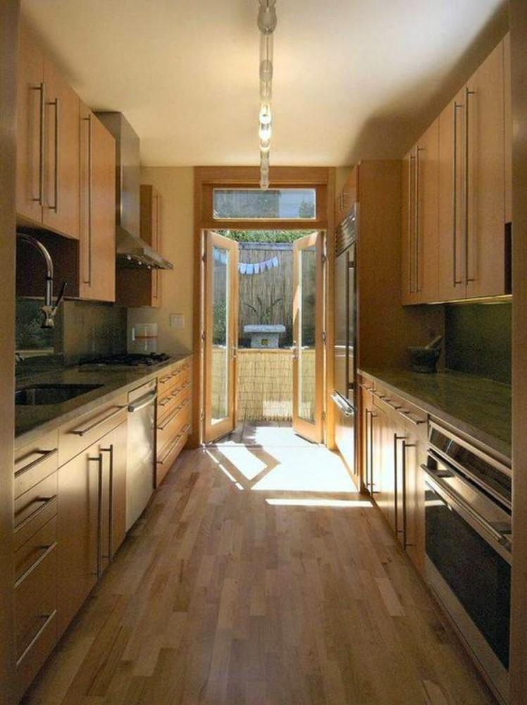 Коричневая кухня кухня