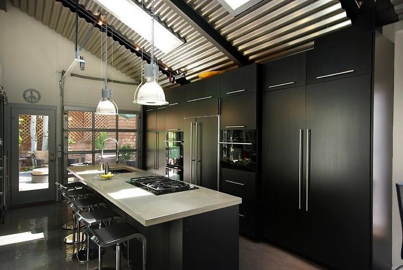 Подвесные кухонные светильники в современном стиле