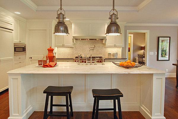 Винтажные светильники для стильной кухни