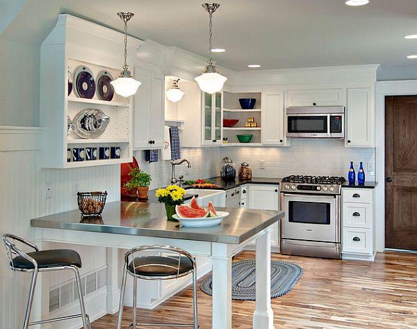 Небольшое кулинарное пространство с удобным и компактным L-образным гарнитуром