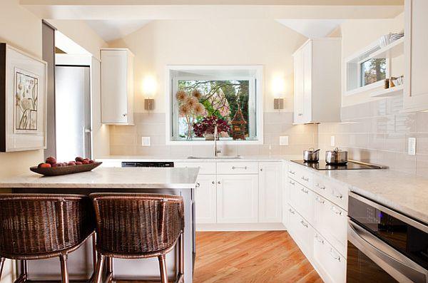 Ультрамодный и современный дизайн небольшой кухни