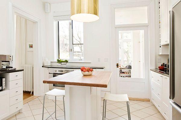 Белоснежная кухня со стильным скандинавским декором