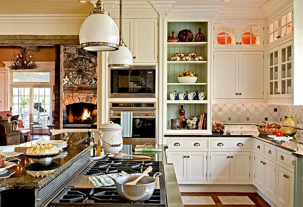 Открытый дизайн кухни-столовой