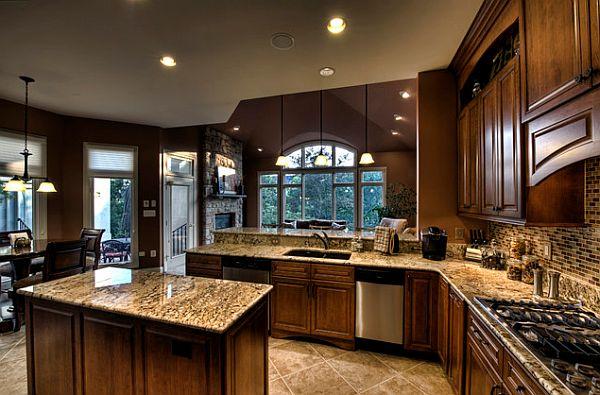 Сложный дизайн с контрастной мозаикой и лилово-коричневыми оттенками