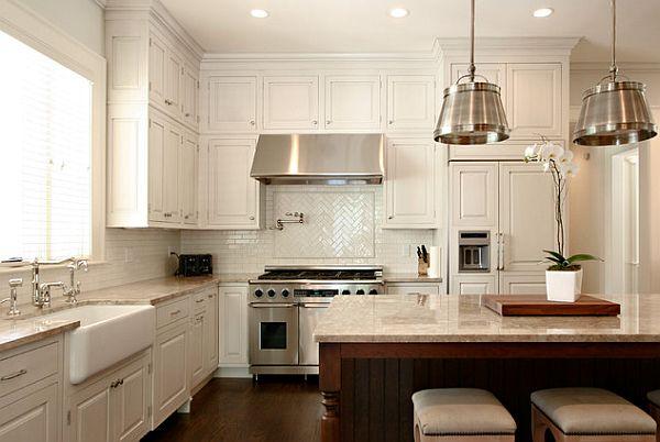 Простой ремонт кухни с элементами классики