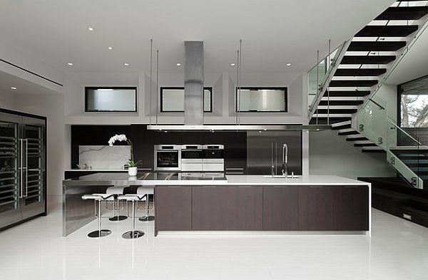 Ультрагладкий дизайн кухни в духе минимализма