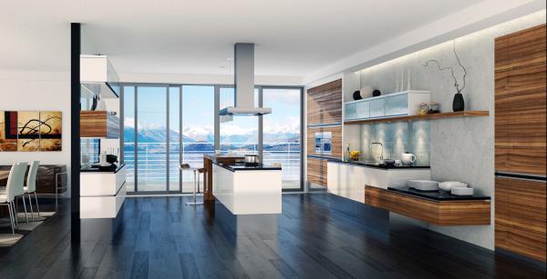 Стильный дизайн кухни с ультрасовременной мебелью