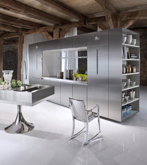 Лёгкий и свежий дизайн современной кухни
