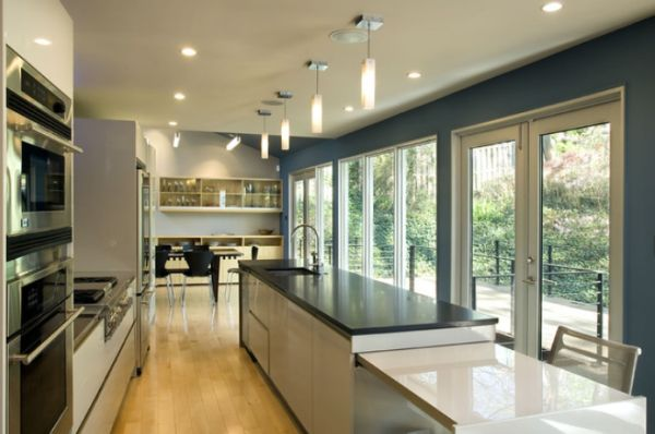 кухня с выходом на террасу фото