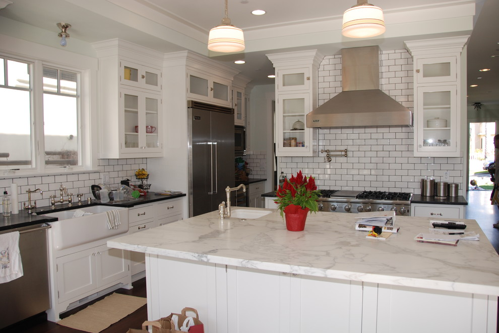 White Beveled Subway Tile With Black Grout  Tiles  Home