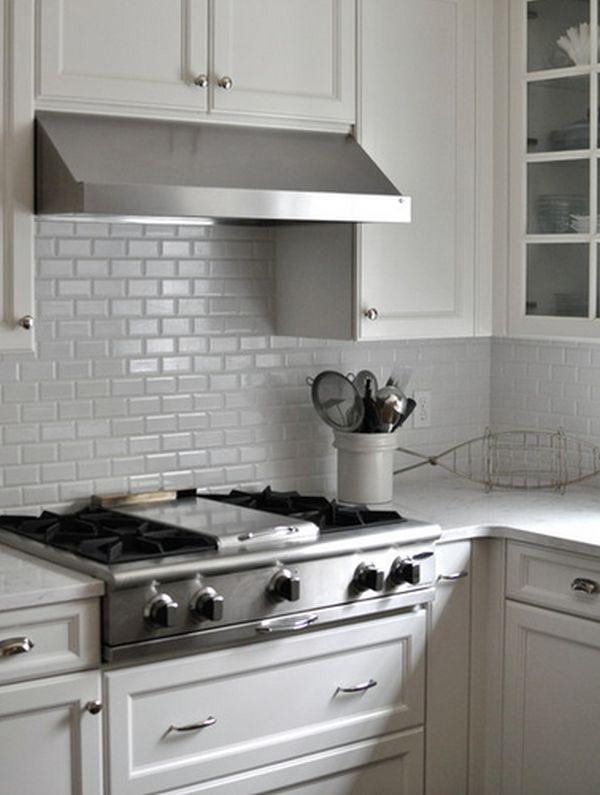 Оформление кухонного фартука керамической плиткой в стиле «метро»