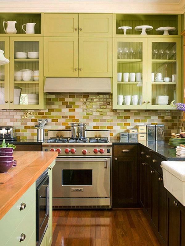 вам кухня плитка между шкафами следует
