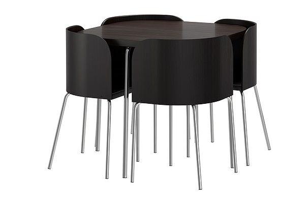 Черный столовывй гарнитур