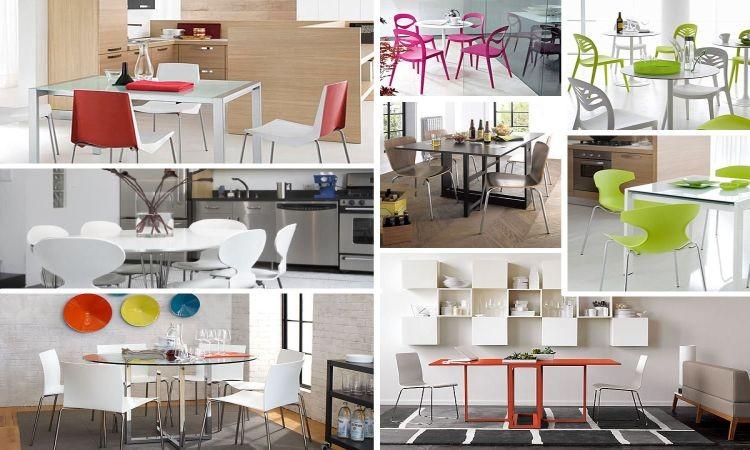 Дизайнерские столы и стулья для кухни: фотоколлаж